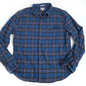 Lucky Brand Flannel Shirt Top Button Front Mens XL